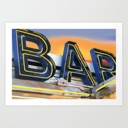Bar. Art Print