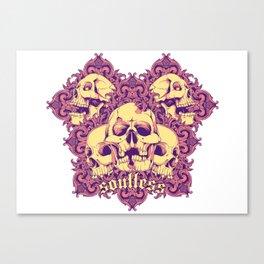 Soulless skulls Canvas Print