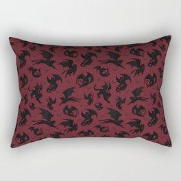 Batcats red Rectangular Pillow