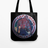 thanos Tote Bags featuring Drax The Destroyer - Guardians of the Galaxy  by Leamartes