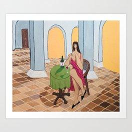 Terracotta Hangover Art Print