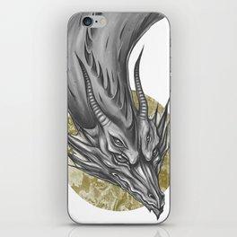 Silver Dragon iPhone Skin
