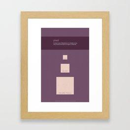 Pixel Framed Art Print