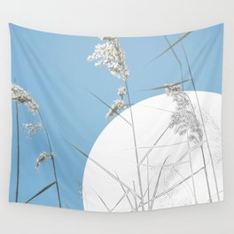 Tall Grass and Full Moon Wall Tapestry