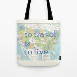 Travel United States of America Tote Bag