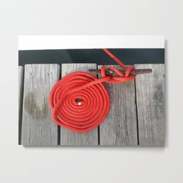 Red Rope Metal Print