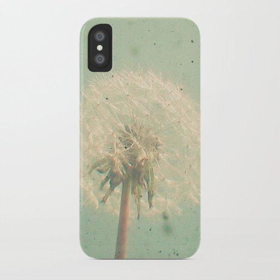 Dandelion Clock iPhone Case