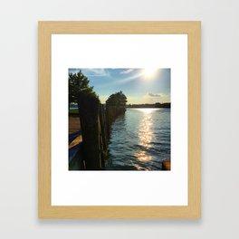 Shimmering Long Dock Park - Beacon NY Framed Art Print