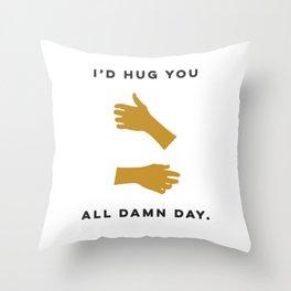 Hugs All Day Throw Pillow