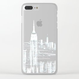 Abstract Red In The City Design Clear iPhone Case