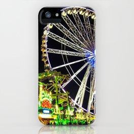 Luna Park by night iPhone Case