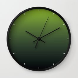 Ombre | Color Gradients | Gradient | Two Tone | Lime Green | Charcoal Grey | Wall Clock