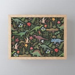 Dinosaur Jungle Framed Mini Art Print