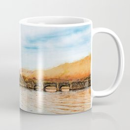 Eilean Donan Castle watercolor painting #1 Coffee Mug