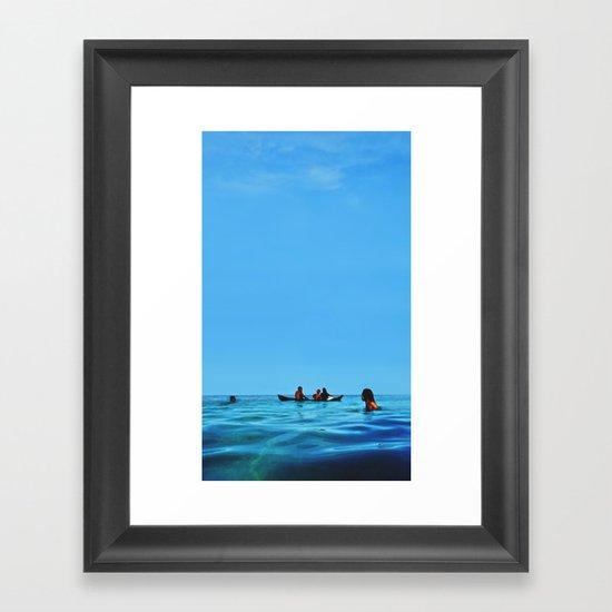 Island Sundays Framed Art Print