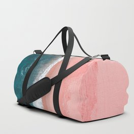 Turquoise Sea Pastel Beach Duffle Bag