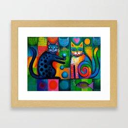 Juggle Puss Framed Art Print