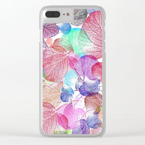 Leaf mosaic(28) Clear iPhone Case
