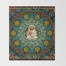 Shakyamuni Buddha - Enlightenment, Peace and Happiness Throw Blanket