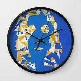 """ The girl with kaleidoscope eyes "" / Acrylic on canvas. Wall Clock"