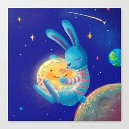 Hug a moon Canvas Print
