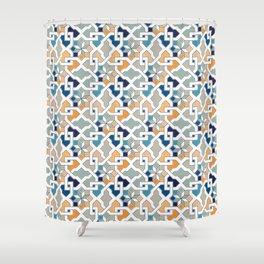 Geometric Pattern - Oriental Design Shower Curtain