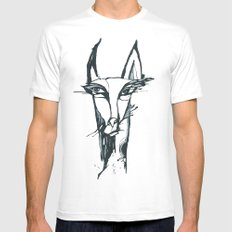 face of the animals White MEDIUM Mens Fitted Tee