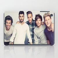 one direction iPad Cases featuring One direction by kikabarros