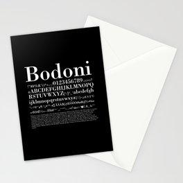 Bodoni (White) Stationery Cards