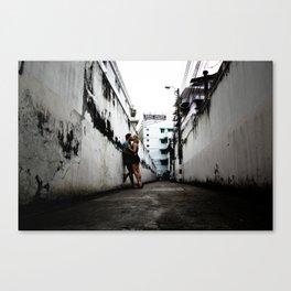 Alleyway Love Canvas Print