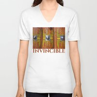 military V-neck T-shirts featuring Roman Military Shield - Scutum by digital2real