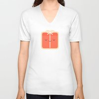 gift card V-neck T-shirts featuring Gift by kim vervuurt