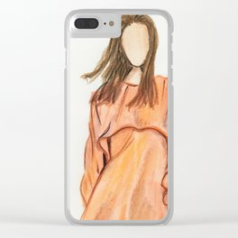Easygoing (Zoomed) Clear iPhone Case