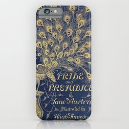 Pride and Prejudice by Jane Austen Vintage Peacock Book Cover iPhone Case