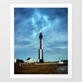 New Cape Henry Lighthouse Under Ominous Clouds Art Print