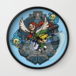 Legend of Zelda Wind Waker Earth Temple T-Shirt Wall Clock