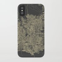 las vegas iPhone & iPod Cases featuring Las Vegas Map #1 by Map Map Maps