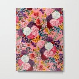 Floral Pink Pattern Metal Print