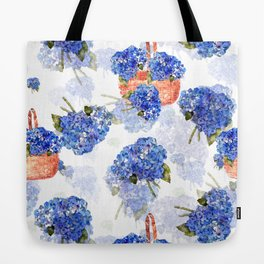 Cape Cod Hydrangeas and Baskets Tote Bag