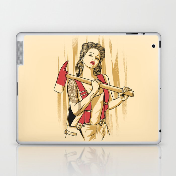 axe girl Laptop & iPad Skin