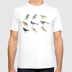 B.I.R.D.S White MEDIUM Mens Fitted Tee