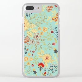 Vintage Blooms Clear iPhone Case