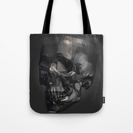 Skull in Low Poly Style Tote Bag
