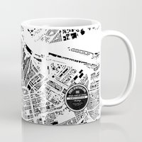 amsterdam Mugs featuring AMSTERDAM by Maps Factory