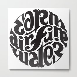 Earth Air Fire Water Metal Print