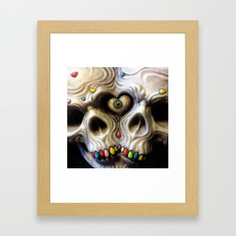 Siamese Skull Love Framed Art Print