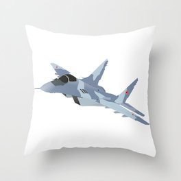 Russian Jet Fighter MiG-29 Throw Pillow