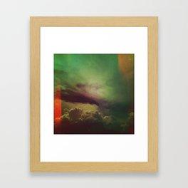 rising clouds Framed Art Print