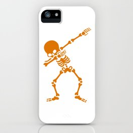 Skeleton Dab iPhone Case