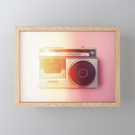 #01_Sanyo radio#film#effect Framed Mini Art Print
